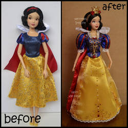 repainted ooak classic snow white doll. by verirrtesIrrlicht