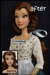 repainted ooak limited edition belle doll. by verirrtesIrrlicht