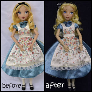 repainted ooak limited edition designer alice doll