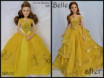 repainted ooak emma watson as belle doll. by verirrtesIrrlicht