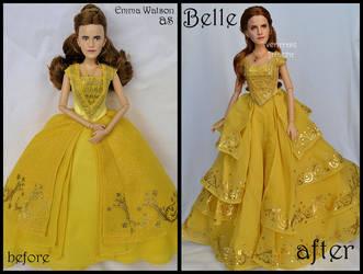 repainted ooak emma watson as belle doll. by verirrtesIrrlicht