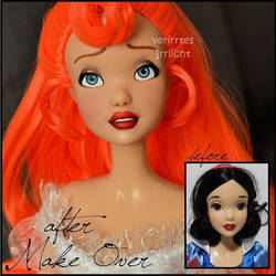 repainted ooak singing thumbelina doll. by verirrtesIrrlicht