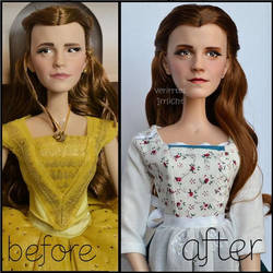 repainted ooak limited edition emma watson doll. by verirrtesIrrlicht