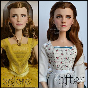 repainted ooak limited edition emma watson doll.
