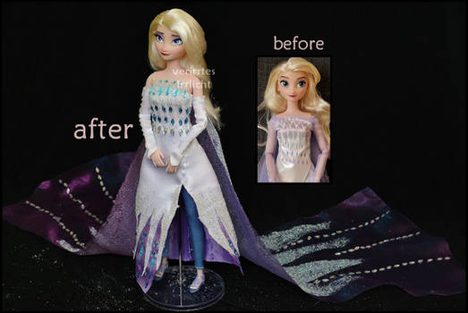 repainted ooak 5th spirit elsa doll.