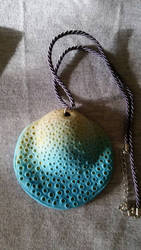 Polymer clay necklace by originalwillow