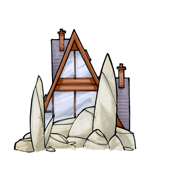 Tiny House on the Rocks by RandomCushing