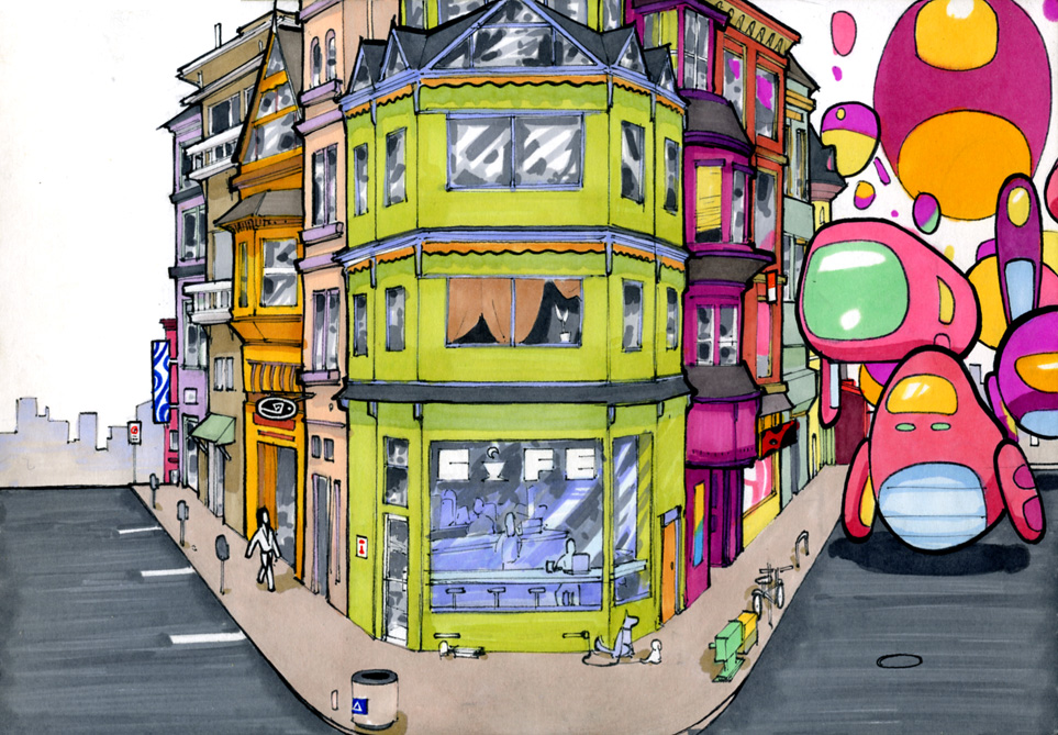 Yoshimi Battles the Pink Robots by RandomCushing