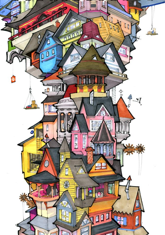Tiny Town by RandomCushing