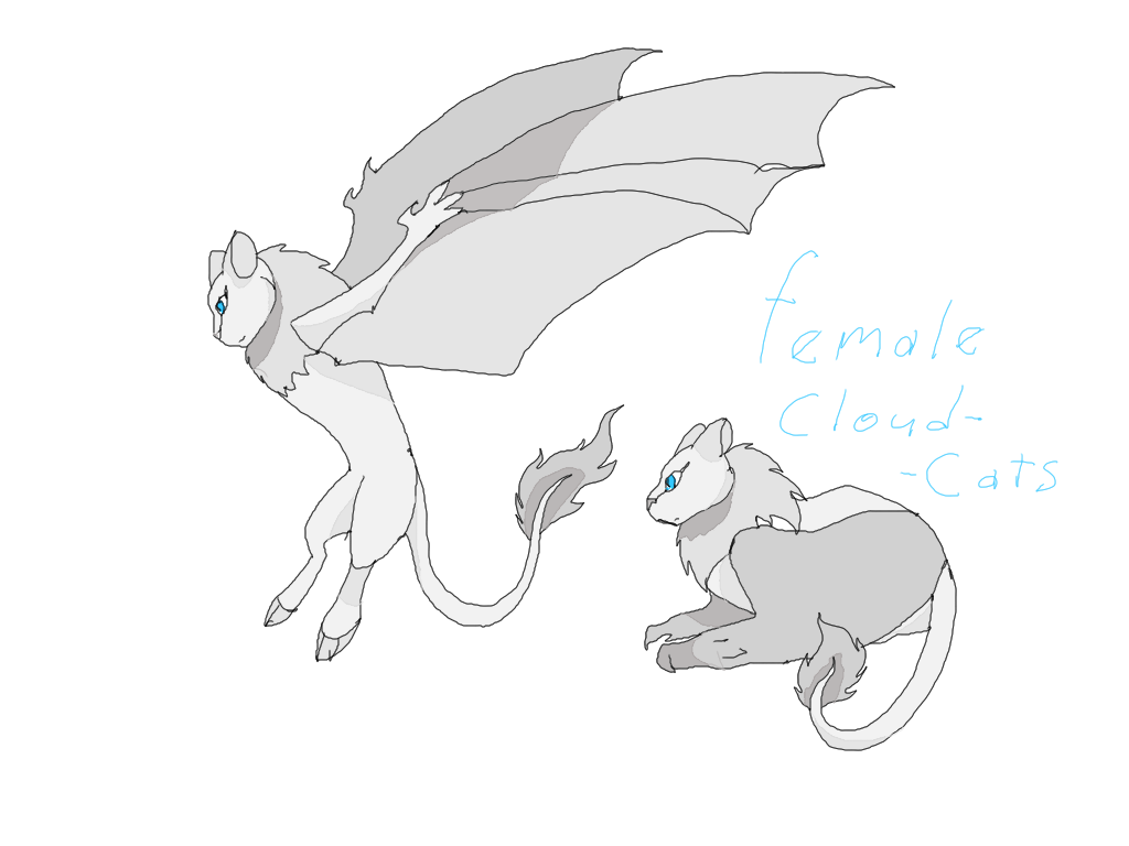Female Cloudcats by CoffeeAddictedDragon