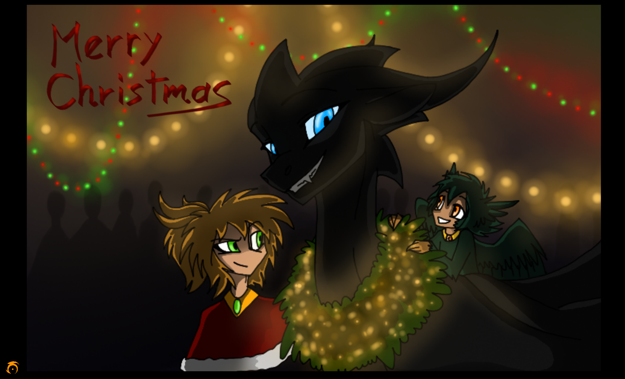 Looping Lights. Merry Christmas by CoffeeAddictedDragon