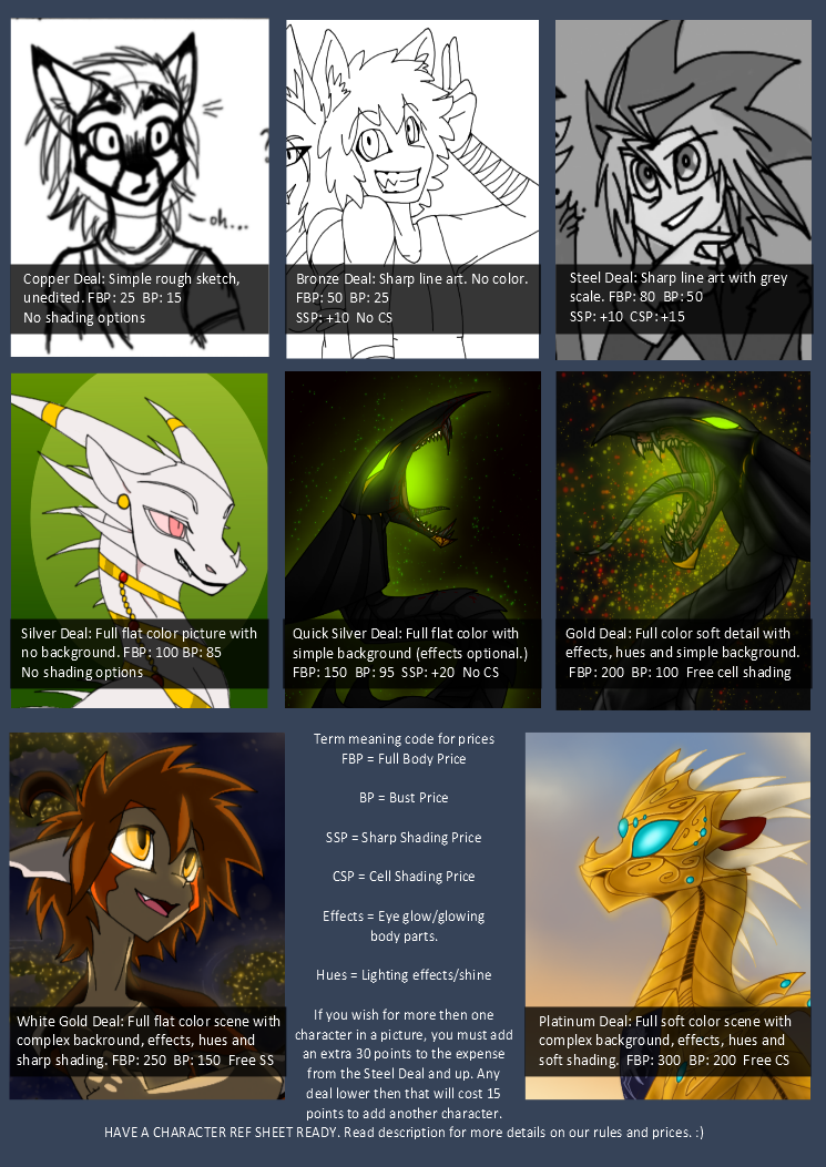 Point Commission Price Sheet CLOSED by CoffeeAddictedDragon