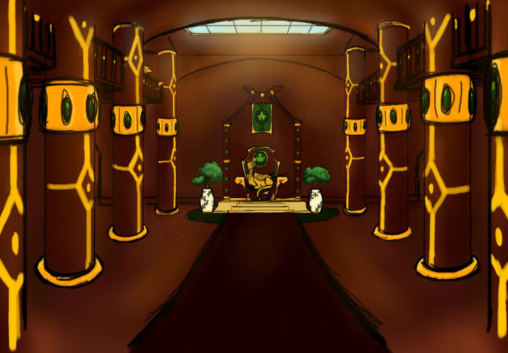 Goldleaf Enrance Hall ROUGH by CoffeeAddictedDragon