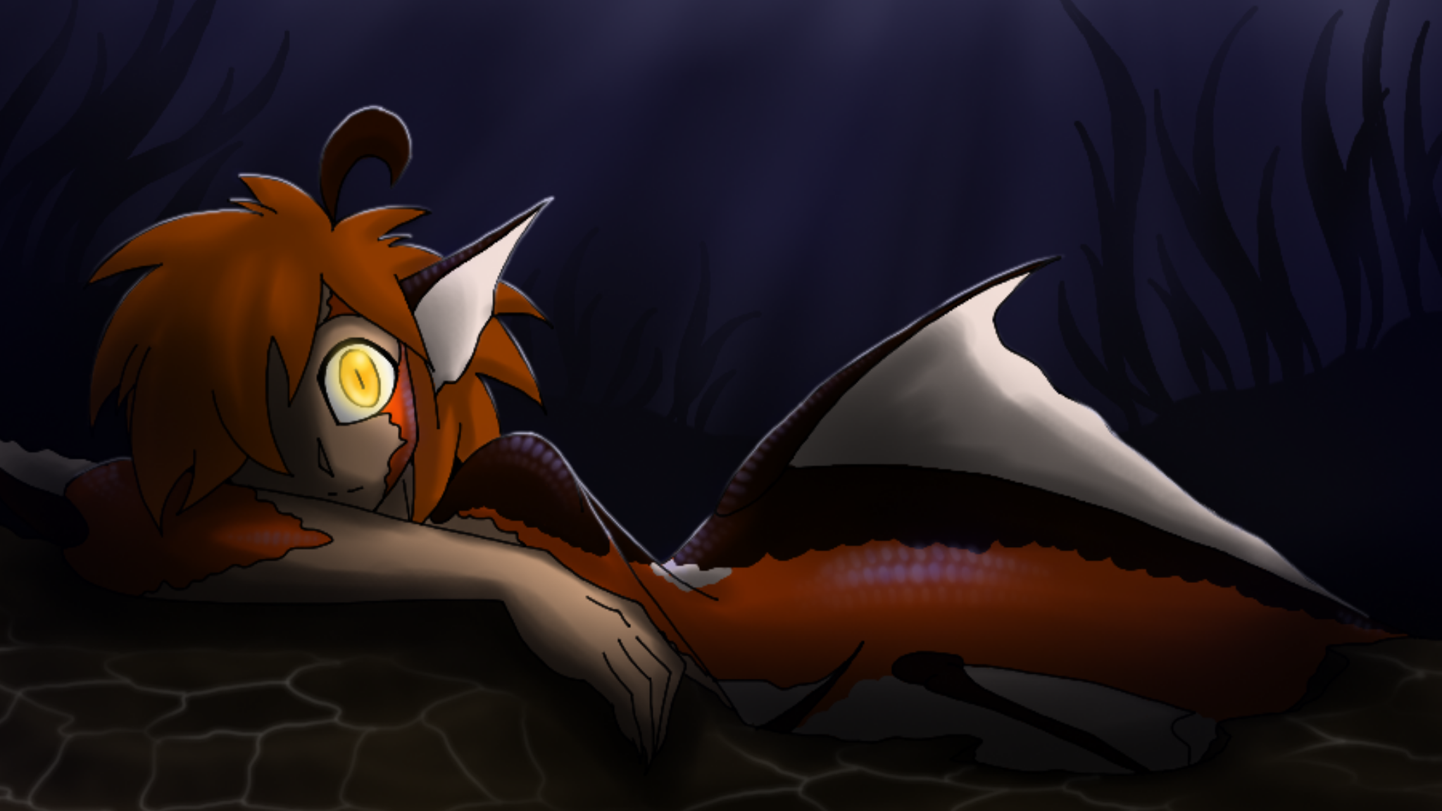 Akoia Eyes in the Night by CoffeeAddictedDragon
