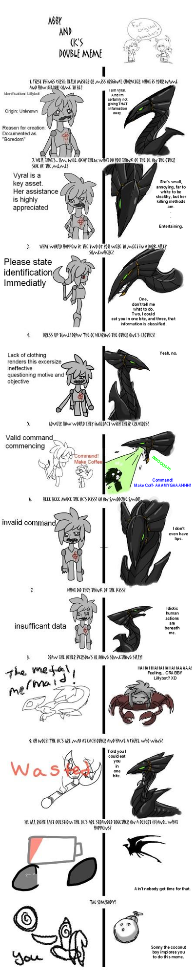 Vyral and Lillybot Double Meme by CoffeeAddictedDragon