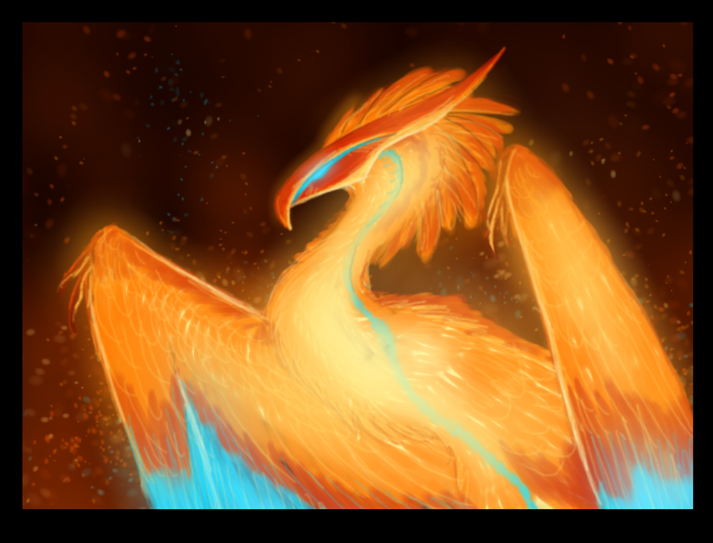 Phoenix Rough Color by CoffeeAddictedDragon