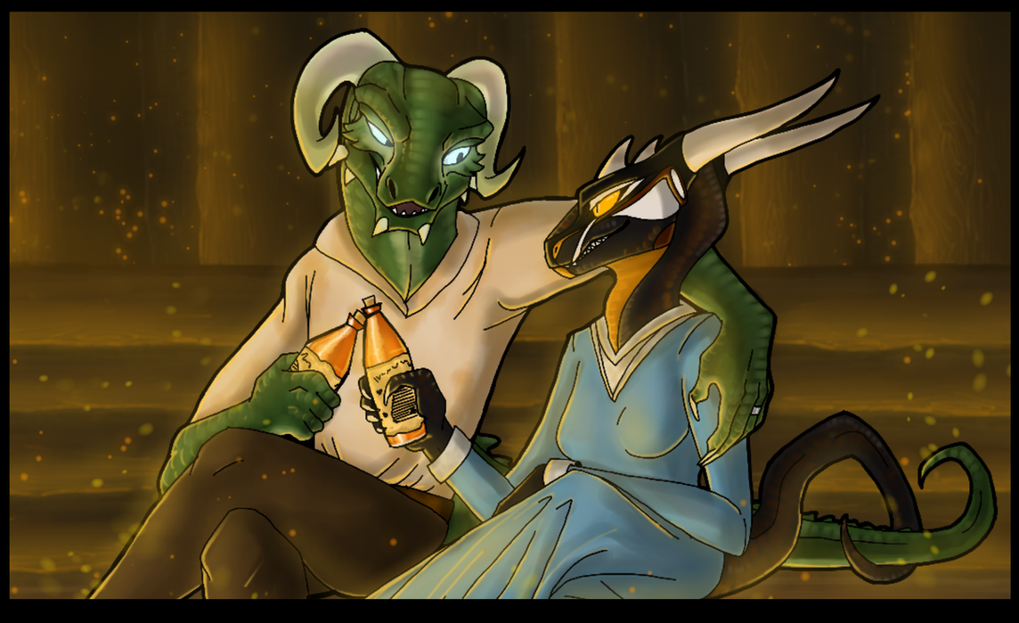 Some Honningbrew, Dear? by CoffeeAddictedDragon