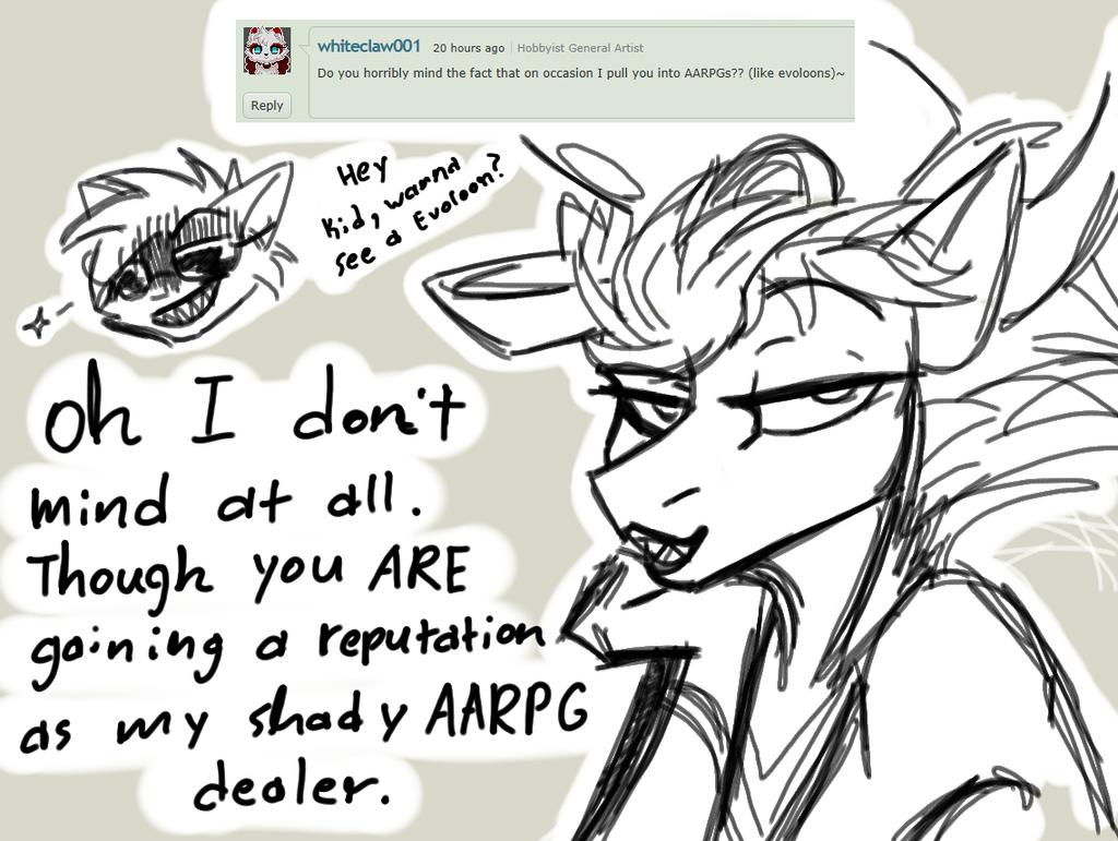 Question 11: My AARPG Dealer by CoffeeAddictedDragon