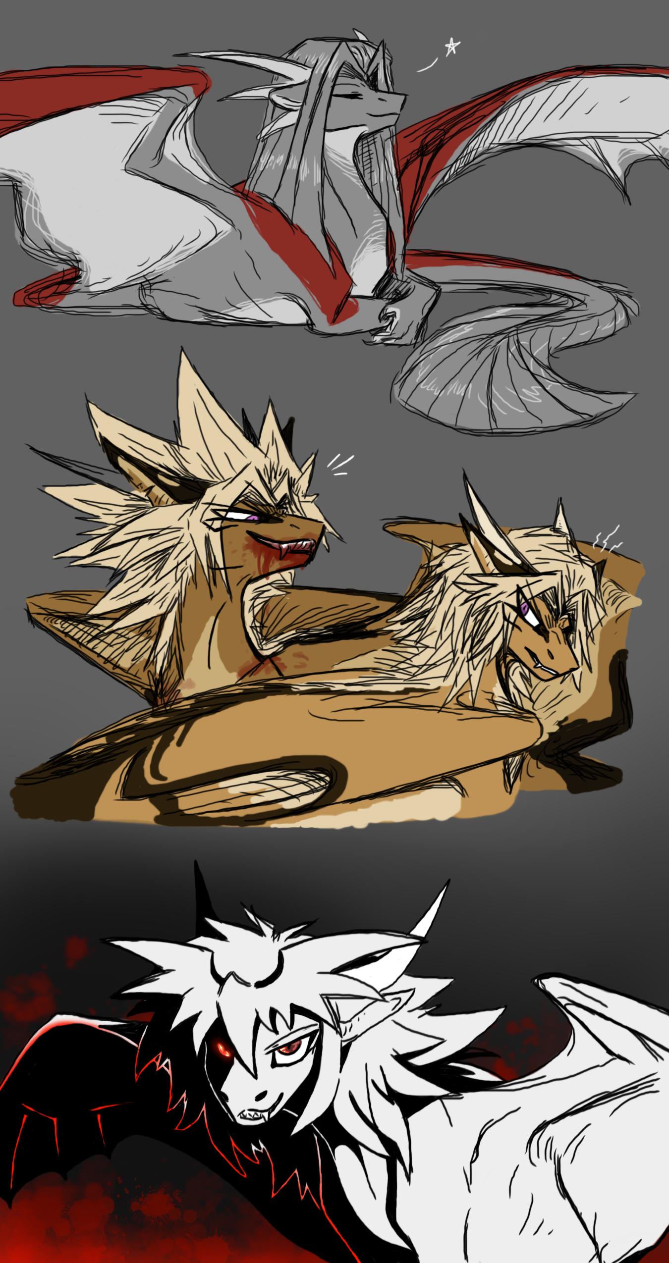 Yugioh Draconic AU Dump 4: Villains by CoffeeAddictedDragon