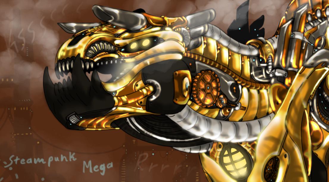 Steampunk MEGAVORE (Dino Sim) by CoffeeAddictedDragon
