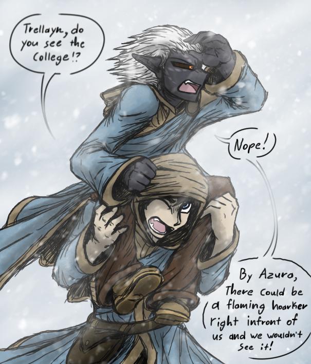 Lost in the Snow (SKYRIM) by CoffeeAddictedDragon