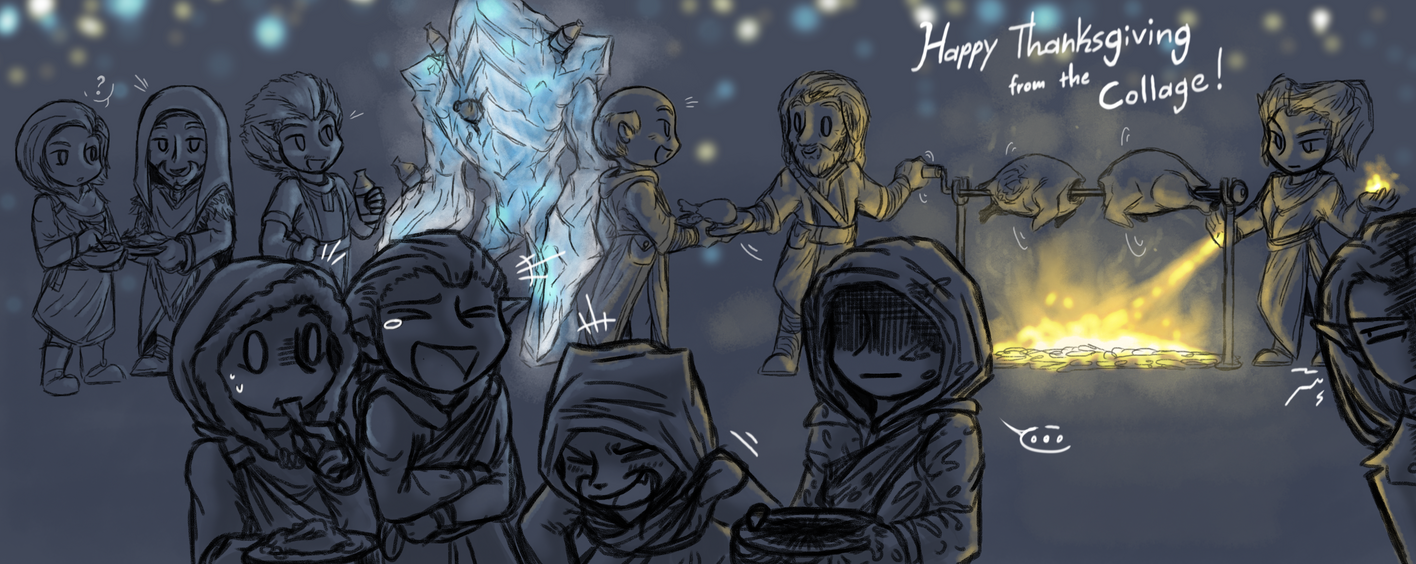 Happy Thanksgiving from The College of Winterhold by CoffeeAddictedDragon