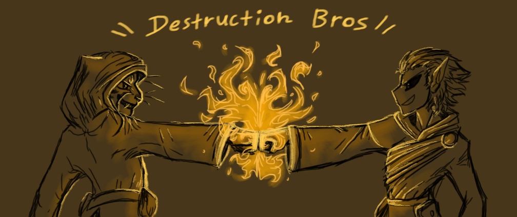 Flaming Fistbump of Friendship! (SKYRIM) by CoffeeAddictedDragon