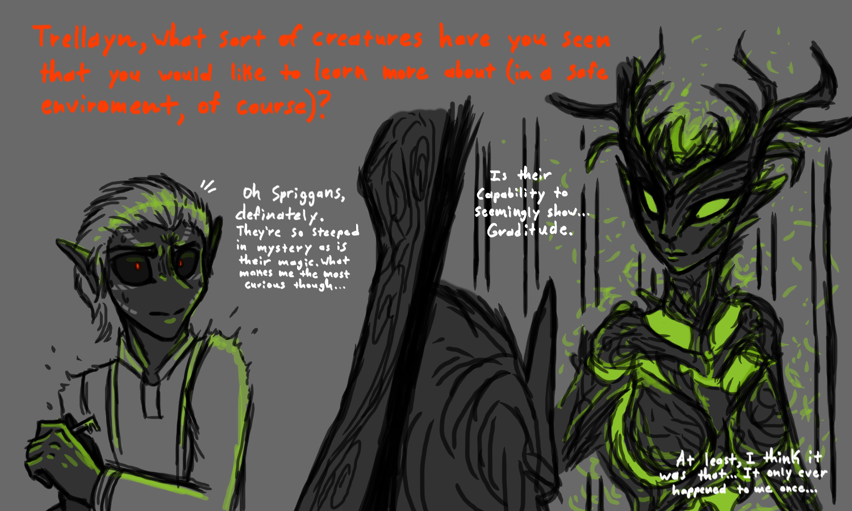 Trellayn's Answer #4. Creature Curiosity by CoffeeAddictedDragon