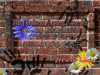 Violence Against Women -Poster by Silver-Dew-Drop