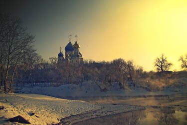 Church on the brink of winter