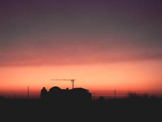 Building in twilight
