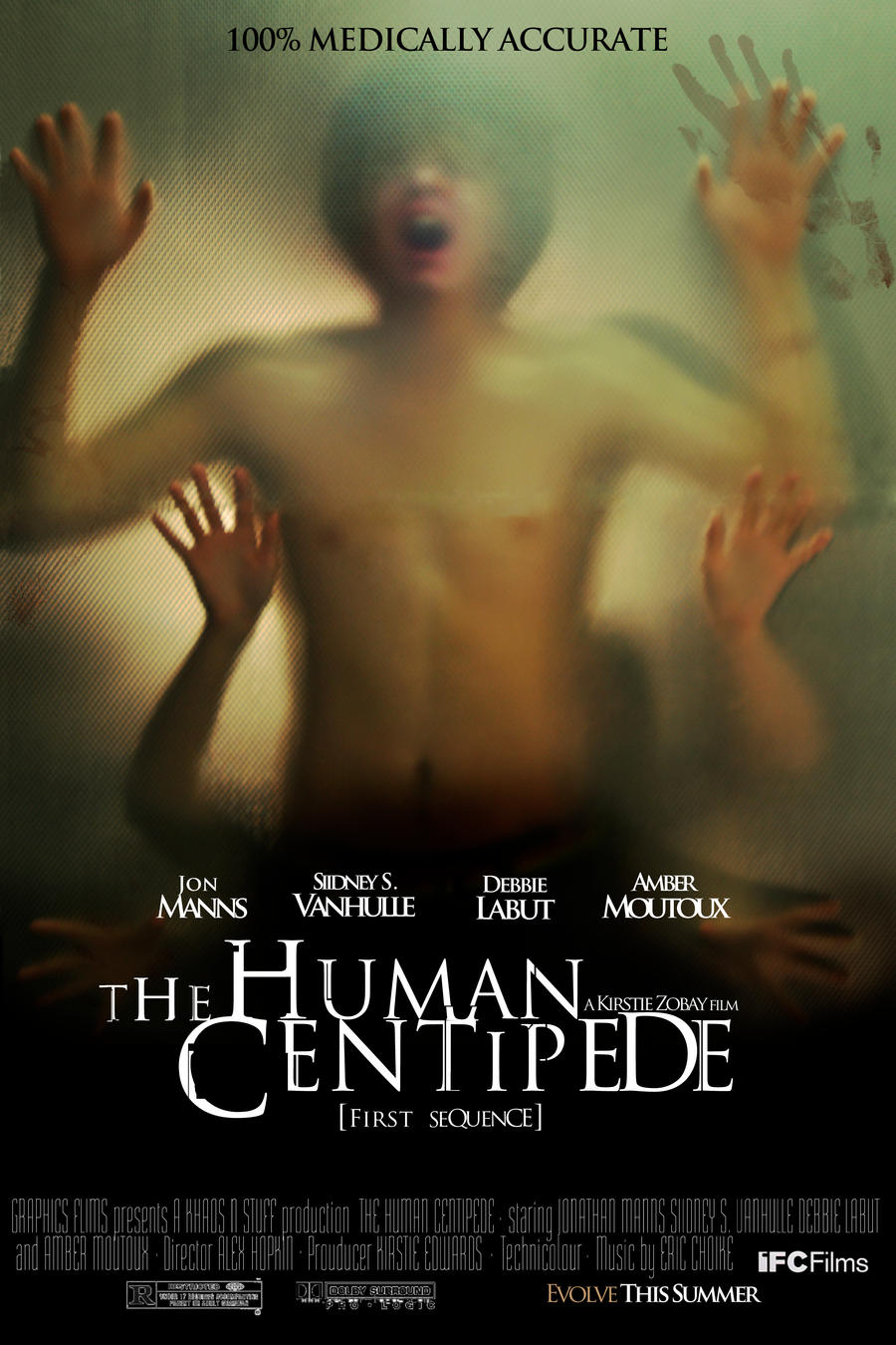 Human Centipede Movie Poster by KittyKit27Human Centipede Movie Poster