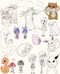 Fan Art Sketch Dump by KittyKit27