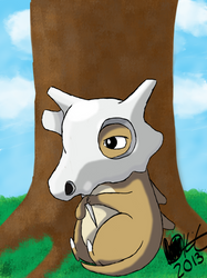 Lonely Cubone by KittyKit27