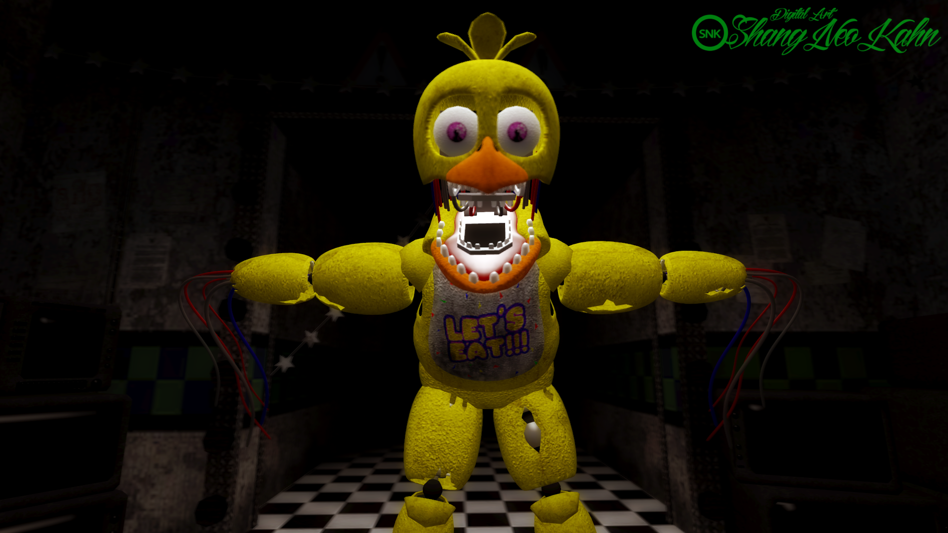 Sfm fnaf 2 withered chica by johnny cortex on deviantart