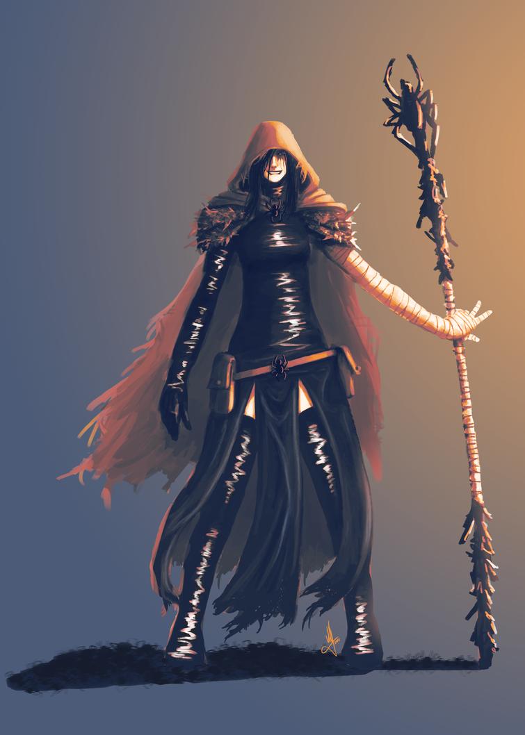 Spider Priestess Sketch by AndPCH