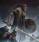 Old Guardian and knights