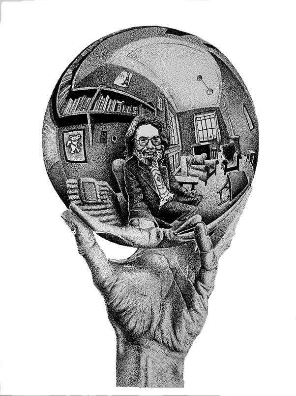 Jerry Garcia Meets MC Escher By Lyoncat