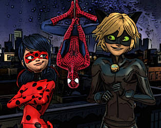 Miraculous Ladybug/Spiderman Crossover picture by chibialvin