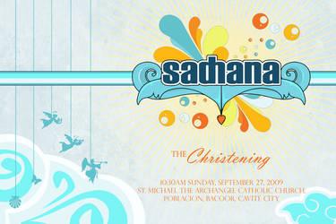 Sadhana Christening Invitation by sethonfire