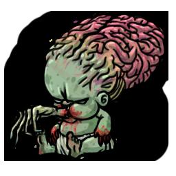 Big-Brained Baby Zombie by HangryHangryHippo