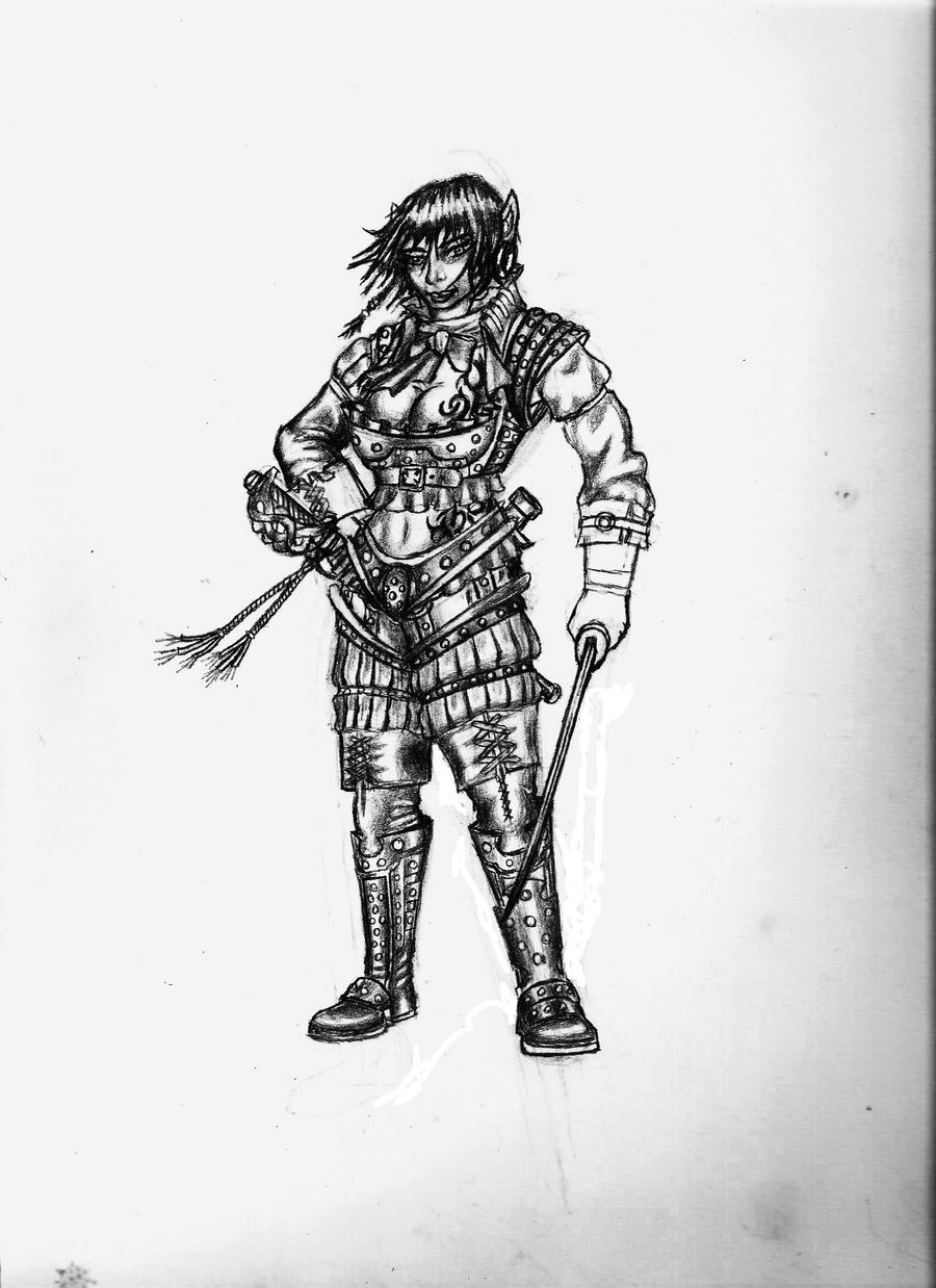 female elven swashbuckler by dst10