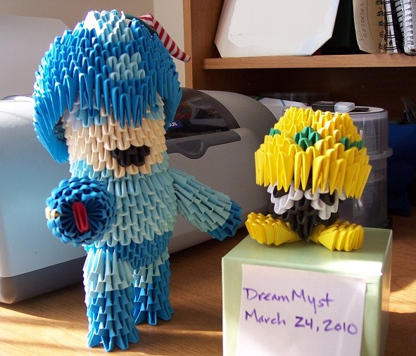 Megaman and Mettaur 3D Origami by o0DreamMyst0o