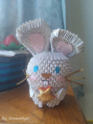 Bunny - 3D Origami by o0DreamMyst0o