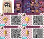 ACNL QR Code - Raccoon Sweater
