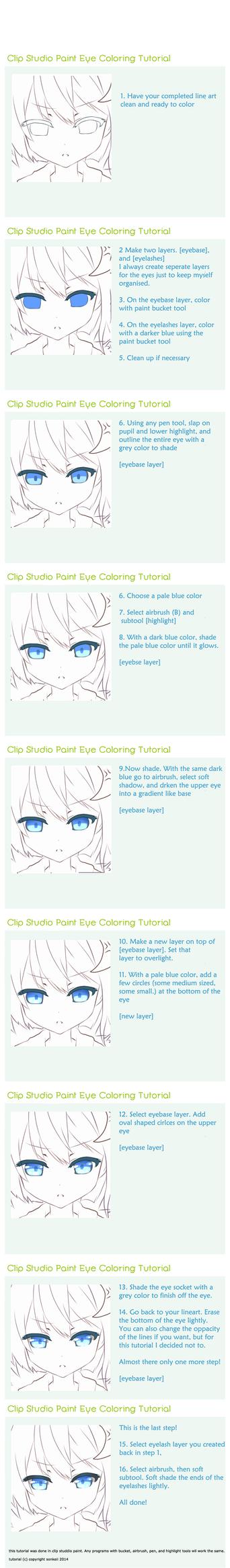Clip Studio Paint Eye Tutorial by sonkeii