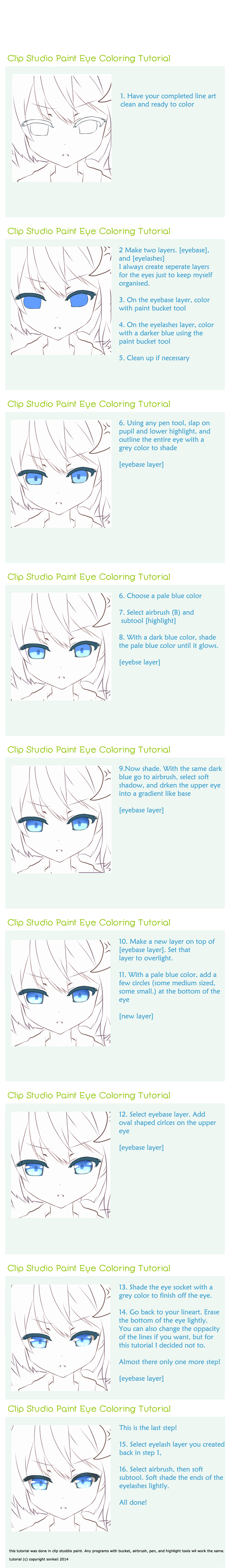 Clip Studio Paint Eye Tutorial By Sonkeii On Deviantart