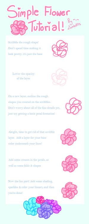 . Simple Flower Tutorial .