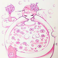 Day 5 : Hot Bath by fawnbun