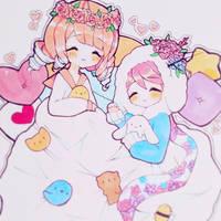 Day 7 : Snuggle in Blanket by fawnbun